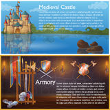 Attributes Of Knight Compositions Stock Photography