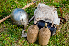 Attributes of medieval warrior Stock Image