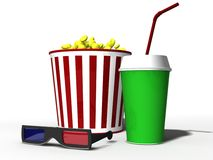 Attributes of movie theaters Stock Photography