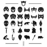 Attributes, primitive, century and other web icon in black style., animals, history, art, icons in set collection. Stock Images