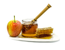 Attributes of rosh hashanah isolated on white Stock Photography