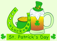 Attributes of a St. Patrick's Day Stock Photo