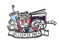 Attributi del cinema dell'illustrazione di vettore Immagini Stock Libere da Diritti