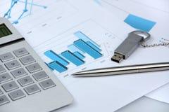 Attributi del commercio e dei programmi Immagini Stock Libere da Diritti