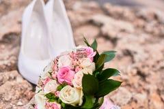 Attributi della sposa per nozze Fotografia Stock Libera da Diritti