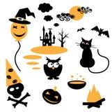 Attributi di Halloween per la celebrazione Immagini Stock