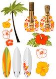 Attributi hawaiani di resto Immagine Stock