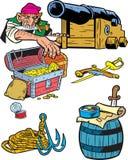 Attributs des pirates illustration stock