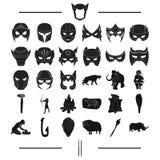 Attributs, primitif, siècle et toute autre icône de Web dans le style noir , animaux, histoire, art, icônes dans la collection d' Images stock
