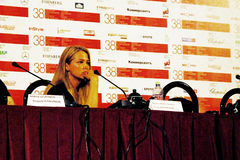 Attrice di film Aglaya Shilovskaya Immagine Stock