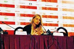 Attrice di film Aglaya Shilovskaya Fotografia Stock