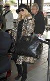 Attrice Nicole Richie all'aeroporto di LASSISMO immagine stock libera da diritti