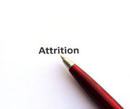Attrition with pen Royalty Free Stock Image