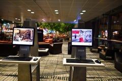 Attualmente, l'aeroporto ha avuto tre terminali operativi Immagini Stock Libere da Diritti