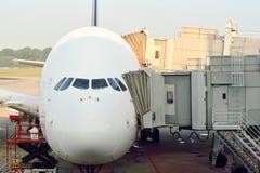 Attualmente, l'aeroporto ha avuto tre terminali operativi Fotografia Stock