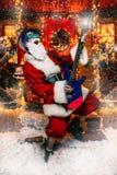 Attuatore il Babbo Natale fotografie stock libere da diritti