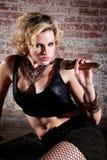 Attuatore punk femminile immagine stock libera da diritti