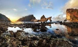 Atuh beach sunrise Nusa Penida royalty free stock photo