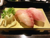 Atum cor-de-rosa do sushi, alimento japonês, Japão Fotos de Stock Royalty Free