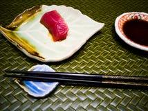 Atum japonês do sashimi do alimento Imagens de Stock