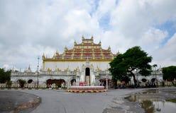 Atumashi Kyaung kloster i Mandalay, Myanmar (Burman) Arkivbild
