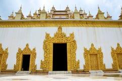 Atumashi Kyaung kloster i Mandalay, Myanmar (Burman) Arkivbilder