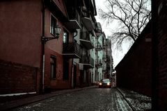 Aturdindo a cidade bonita do inverno do Polônia fotos de stock