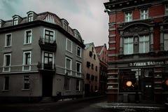 Aturdindo a cidade bonita do inverno do Polônia fotos de stock royalty free