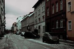 Aturdindo a cidade bonita do inverno do Polônia imagens de stock