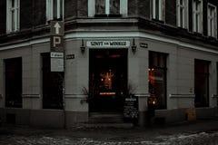 Aturdindo a cidade bonita do inverno do Polônia foto de stock royalty free