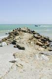Aturdindo o EL Yaque de Playa, ilha de Margarita, Venezuela, Ámérica do Sul fotos de stock