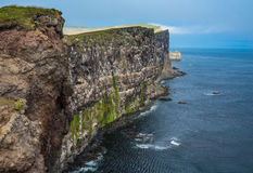 Aturdindo penhascos do pássaro de Latrabjarg, fiordes ocidentais, Islândia imagem de stock royalty free