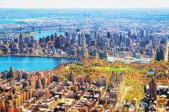 Aturdindo a vista aérea no Central Park do nd de Manhattan fotografia de stock royalty free