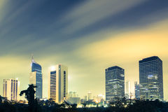 Aturdir Jakarta, el capital de Indonesia Fotografía de archivo