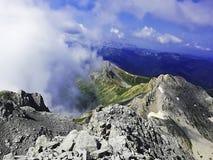 Aturdir la montaña de Komovi foto de archivo libre de regalías
