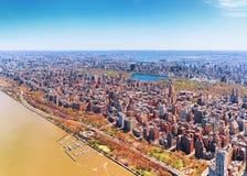 Aturdir la vista aérea del Central Park del nd de Manhattan fotografía de archivo libre de regalías