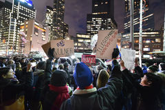 Atutowy inauguracja protest przy Kolumb okręgiem w NYC Fotografia Royalty Free