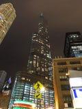 Atutowy wierza przy nocą zdjęcie royalty free