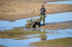 ATV在泥停留 免版税库存照片