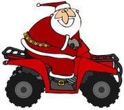 atv骑马圣诞老人 免版税库存图片