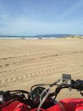 ATV στην παραλία Στοκ Εικόνες