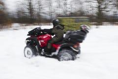 ATV το χειμώνα Στοκ φωτογραφία με δικαίωμα ελεύθερης χρήσης