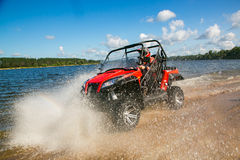 ATV in action Royalty Free Stock Images
