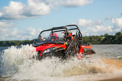 ATV in action Royalty Free Stock Photos