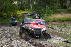ATV in action Stock Images