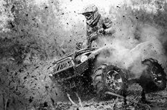 ATV in action, having fun. ATV in action, maximum fun stock photos