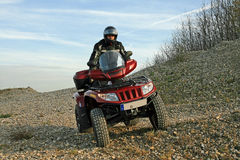 The atv. With atv in the area on the way Stock Photos