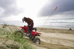 ATV on the beach stock photos