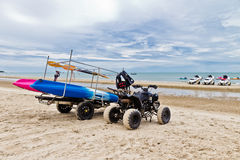 ATV on The Beach. Royalty Free Stock Photography