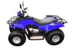 Atv blu della quadrato-bici 4x4 isolato Fotografia Stock